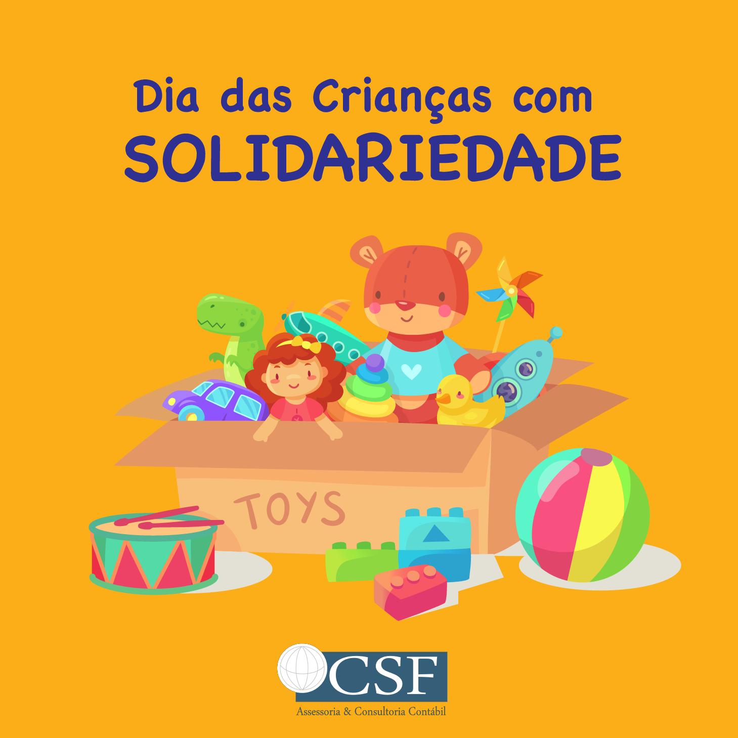 Dia das crianças com solidariedade